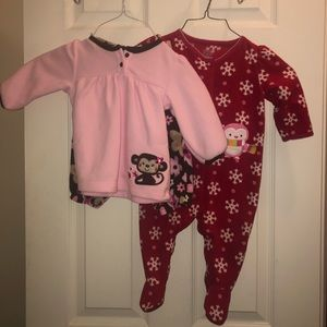 2 fleece carters sets for 6-9 month old